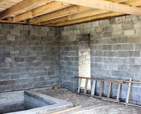 бассейн в бане из керамзитобетонных блоков