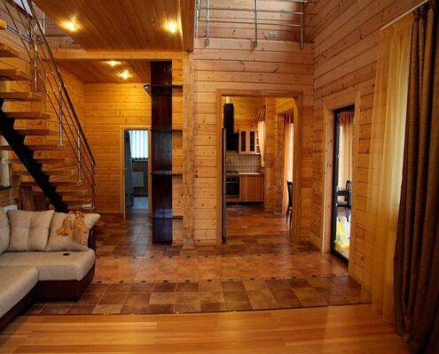 деревянный дом после ремонта